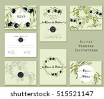 hand drawn watercolor set of... | Shutterstock . vector #515521147