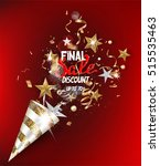 final sale banner with gold and ... | Shutterstock .eps vector #515535463