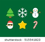 abstract funny flat style... | Shutterstock .eps vector #515541823