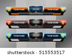 scoreboard sport template for... | Shutterstock .eps vector #515553517