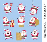 cute santa claus illustration... | Shutterstock .eps vector #515555617