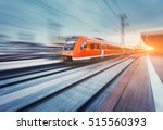 modern high speed red passenger ... | Shutterstock . vector #515560393