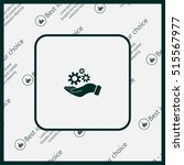 hand symbol settings wrench... | Shutterstock .eps vector #515567977