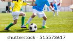 football soccer match for... | Shutterstock . vector #515573617