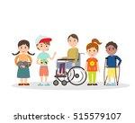 special needs children with...   Shutterstock .eps vector #515579107