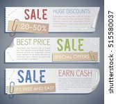 promotion sale horizontal... | Shutterstock .eps vector #515580037