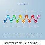 infographics timeline template... | Shutterstock .eps vector #515588233