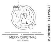 christmas horizontal banner... | Shutterstock .eps vector #515590117