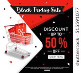 black friday sale banner for... | Shutterstock .eps vector #515591077