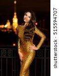 sexy fashionable beautiful... | Shutterstock . vector #515594707