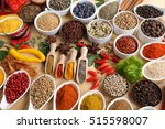 herbs and spices in ceramic... | Shutterstock . vector #515598007
