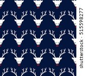 xmas deer seamless pattern on... | Shutterstock .eps vector #515598277
