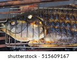 grilled tambaqui fish on the... | Shutterstock . vector #515609167