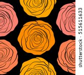 Flower Seamless Pattern. Hand...
