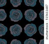trendy floral background.... | Shutterstock .eps vector #515611687