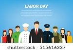 people of different occupations.... | Shutterstock .eps vector #515616337