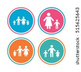 family with two children icon.... | Shutterstock .eps vector #515625643