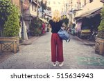woman caucasian traveler... | Shutterstock . vector #515634943