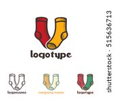 set a simple logo with a... | Shutterstock .eps vector #515636713
