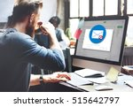 e mail popup warning window... | Shutterstock . vector #515642797