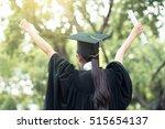 successful graduating student... | Shutterstock . vector #515654137