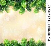christmas background with fir...   Shutterstock .eps vector #515655367