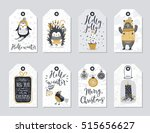 christmas tags set  hand drawn... | Shutterstock .eps vector #515656627