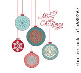 christmas background with... | Shutterstock .eps vector #515680267