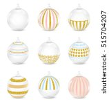 christmas balls on white... | Shutterstock .eps vector #515704207