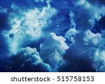 space of night sky with cloud... | Shutterstock . vector #515758153