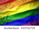 Waving Colorful Gay Rainbow...