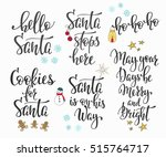 merry christmas happy new year... | Shutterstock .eps vector #515764717