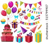 birthday party isolated... | Shutterstock .eps vector #515799907