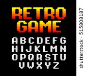 retro style video game pixel... | Shutterstock .eps vector #515808187
