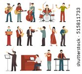 Colored Musicians Figures With...