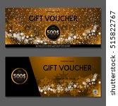 gift voucher. vector ... | Shutterstock .eps vector #515822767