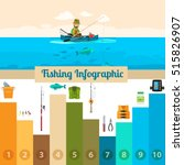 fishing sport infographicwith a ...   Shutterstock .eps vector #515826907