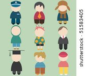 set of funny male icons | Shutterstock . vector #51583405