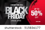 black friday sale banner | Shutterstock .eps vector #515836177