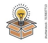 isolated big idea draw design   Shutterstock .eps vector #515837713
