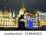christmas tree in front off... | Shutterstock . vector #515840023