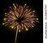 firework bursting sparkle... | Shutterstock .eps vector #515845747