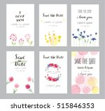 hand drawn vector save the date ... | Shutterstock .eps vector #515846353