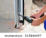 constructor installing and... | Shutterstock . vector #515846497