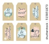 Set Of Christmas Gift Tags Wit...