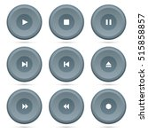 player buttons set on a white... | Shutterstock .eps vector #515858857