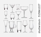 Set Of Cocktail Stemware And...