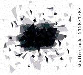 isolated polygonal figure design | Shutterstock .eps vector #515871787