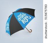blank classic opened round rain ... | Shutterstock .eps vector #515875783