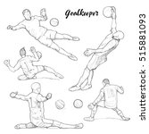 illustration set of goalkeeper. ... | Shutterstock .eps vector #515881093